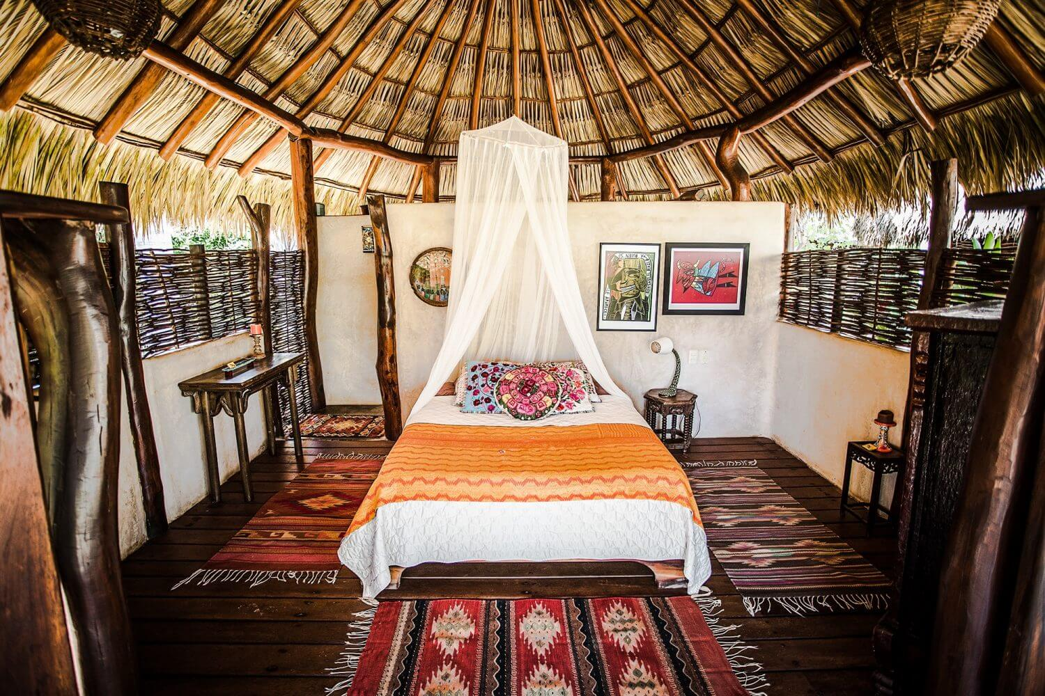 Accomodation _ Bungalow _ Tranquility _ Room _ Present Moment Retreat _ Boutique Hotel _ Spa Resort _ Yoga Retreat _ Restaurant _ Playa Troncones Mexico _ LovaLinda CH Photography