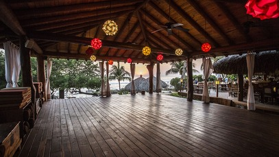 Our Open Air Yoga Pavilion Is At The Heart Of Retreat Gracefully Suspended Above Beach With Ample Room For Thirty Pracioners All Yogis Receive