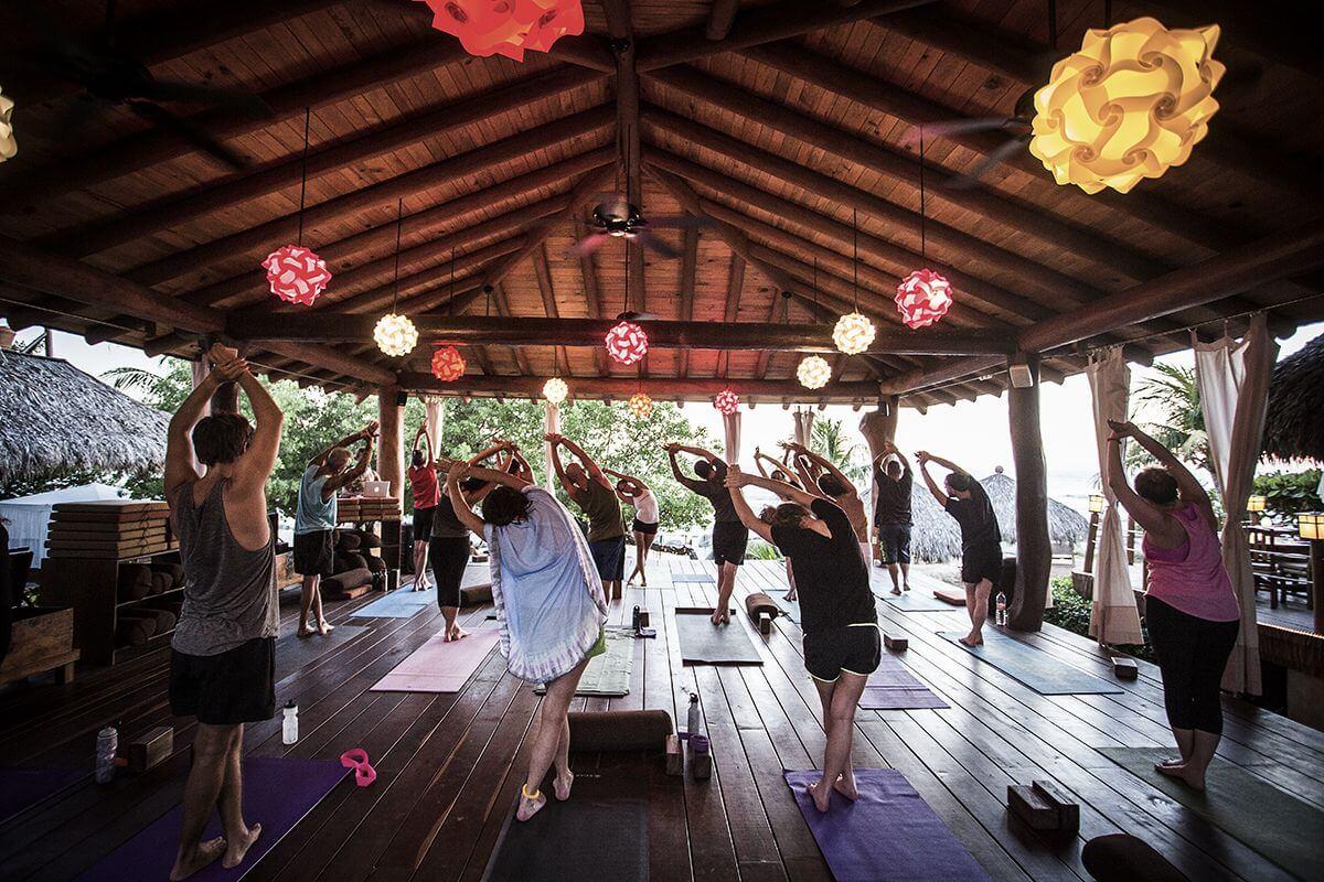 Vinyassa yoga class
