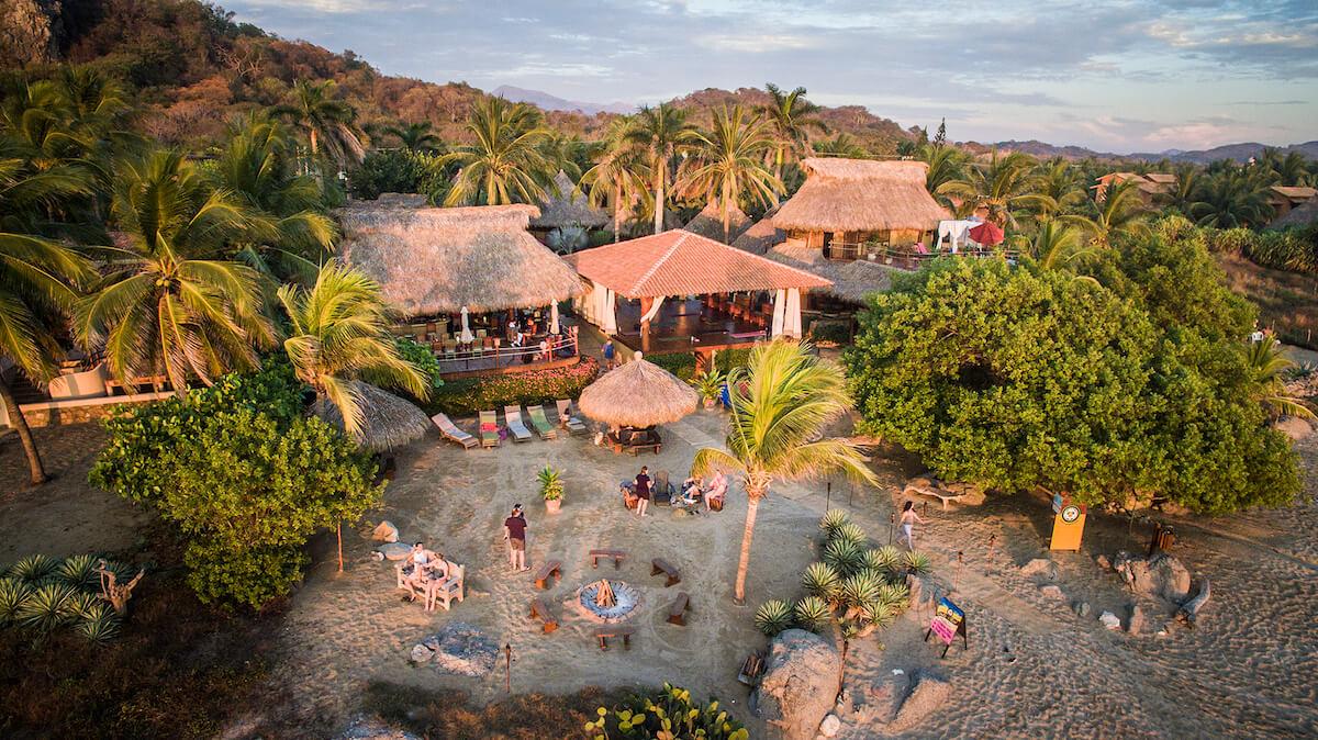 Oceanfront yoga resort in Troncones, Mexico