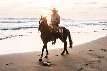 Horseback riding in Mexico