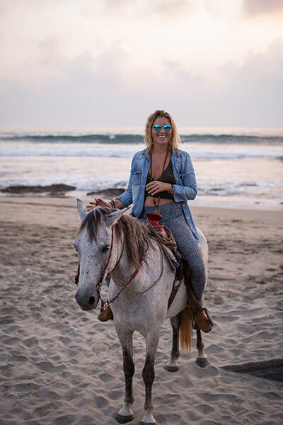 Horseback riding in Troncones