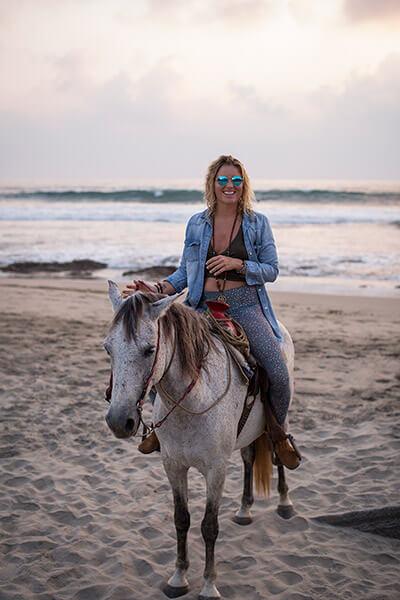 Horseback riding in Troncones