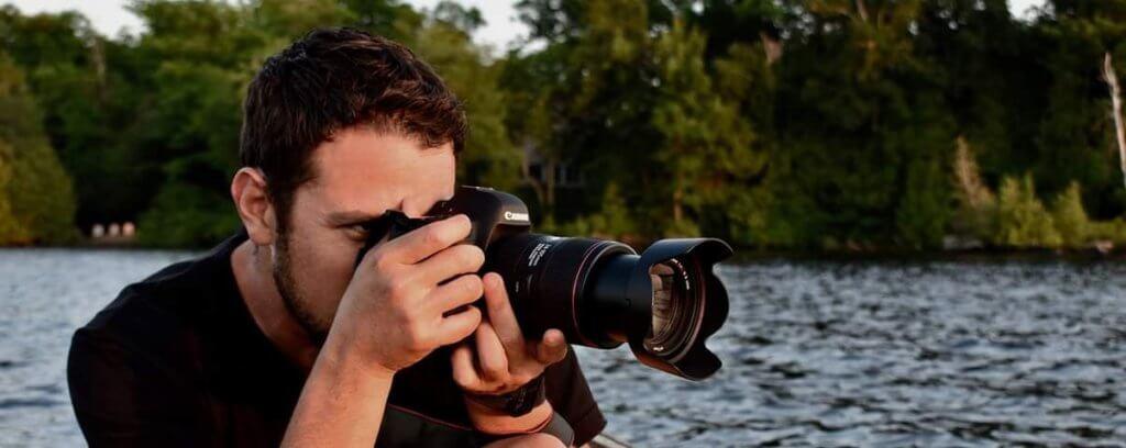 Rolando Morales with camera